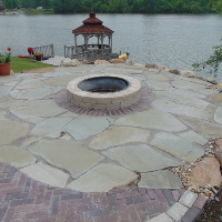 hardscaping greenfield in