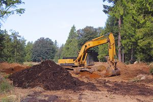 landscape land grading greenfield in
